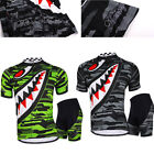Mens Sportswear Team Cycling Jersey Sets Bike Bicycle Top Short Sleeves Clothing