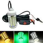 12V 108 LED Underwater Night Fishing Light Shad Bait Lure Squid Boat Diving Lamp