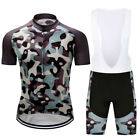 2017 Fashion Mens Cycling Clothing Bicycle Jersey Bib Shorts Suits Camouflage