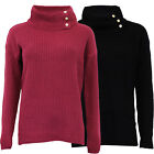 Ladies Jumper Brave Soul Womens Cable Knitted Polo Turtle Roll Neck Sweater New