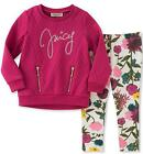 Juicy Couture Big Girls Berry Top 2pc Legging Set Size 7 8/10 12 $75