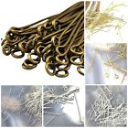 "1"" 1.25"" 1.5"" Eye-pin Silver Gold Plated Finding 22 Gauge 75pcs Free Shipping"