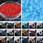 50~200pcs 3mm Cube Square Faceted Crystal Glass Charms Loose Spacer Beads