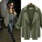 Warm Women's Military Casual Parka Long Jacket Trench Coat Outwear Windbreaker