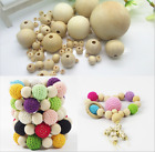 DIY 120-660 Pcs Round pearl wood beads natural color beads 6--40mm wood beads