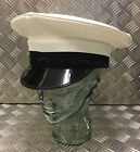 Genuine British Royal Navy Class 1 & 3 White Officer Cap / Dress Hat. All Sizes