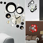 Acrylic Mirror DIY Wall Clock Modern Sticker Design Home Office Room Decoration