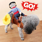Cute Pet Dog Halloween Fancy Costumes Riding Cowboy Knight Coat Clothes 4 Size