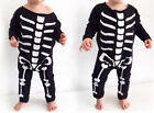Baby Kids Boys Girls Halloween Skull Skeleton Costume Romper Bodysuit Clothes