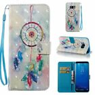 Feather Dreamcatcher 3D Wallet Leather case cover strap for Samsung S8 iphone 8