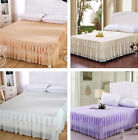 High Quality Bedspread Home Decor Bed Skirt Print Bedding Lace Edge Princess GW image