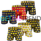 6 Pairs Mens Emoticons Boxers Men Smiley Novelty Funny Print Emotion Faces Boxer
