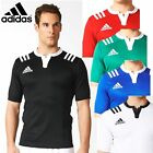 adidas 3 Stripe Fitted Rugby Jersey Football Sports T-Shirt Polo