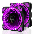 2 x LTC LitFlow 120mm 32 LED High Airflow Fan Cooler Case PC Computer Cooling