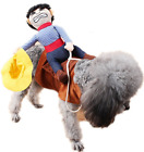 Pet Dog Cat Cowboy Bucking Bronco Wild West Halloween Fancy Dress Costume Outfit