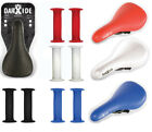 BMX Saddle and Grips Kit - Set - Coloured Bike Seat and Handlebar Grips