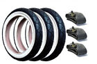 Phil & Teds Pram Tyres & Tubes (Set of 3) White Wall + Puncture Protected Liners