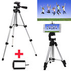 Portable Professional Adjustable Camera Tripod Stand Mount+Cell Phone Holder фото