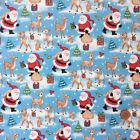 Christmas Fabric Father Christmas  sold per 1/2 Metre or Fat quarter 100% cotton
