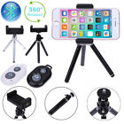 Tripod Stand 360° Rotation Holder Mount with Bluetooth Remote for iPhone Samsung