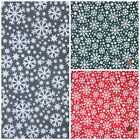 Christmas Fabric FROSTY STARS  per 1/2 Metre / Fat quarter polycotton