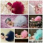 Newborn Baby Girl Crochet Knit Tutu Skirt Costume Photography Photo Prop ED