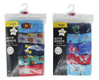 Boys Kids 5 Pack Briefs Shorts Underwear Classic Design School 3/4 5/6 7/8
