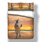Zebras Quilt/Doona/Duvet Cover Set Single Queen King All Size Animal Bed Covers