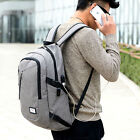 Polyester Solid Bags Big School Backpack for Teenager with USB Charge Interface