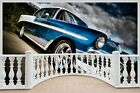 Huge 3D Balcony Muscle Car Wall Stickers Film Mural Art Decal 352