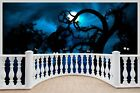Huge 3D Balcony Forest Midnight Wall Stickers Wallpaper Mural 753