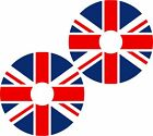 Wheelchair Spoke Guard Skins Union Jack Flag Mobility Sticker 1283A