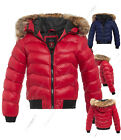 Size 8 10 12 14 16 Womens QUILTED Ladies Puffer JACKET COAT PADDED QUILTED PARKA