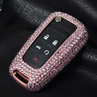 Luxury Diamond Handmade Cover For Buick Folding Key Aluminum Case + Real Leather