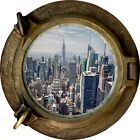 Huge 3D Porthole New York City View Wall Stickers Film Mural Decal 329