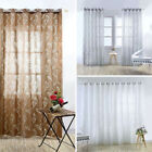 Unique Floral S Shaped Tulle Curtain Sheer Scarf Window Curtain Home Decor