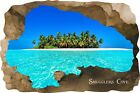 Huge 3D Smugglers Cove Beach Cave View Wall Stickers Mural  Decal Film 52