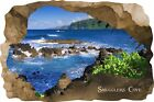Huge 3D Smugglers Cove Beach Cave View Wall Stickers Mural  Decal Film 60