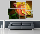 Yellow Rose Morning dew Flowers Removable Self Adhesive Wall Picture Poster 1267