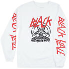 Black Scale Diabolic Shirt Long Sleeve White Baphomet Occult Top BLVCK SCVLE