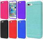 For Apple iPhone 8 & 8 PLUS Rugged Rubber SILICONE Soft Gel Skin Case Cover