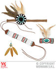 Mens INDIAN SET headband, for Native Wild West American Cowboys Accessory