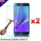 2x Scratch Resist Tempered Glass Screen Protector for Samsung Galaxy Note 5
