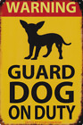 A4 SIZE WARNING GUARD DOG ON DUTY ALSATIAN DOBERMAN METAL PLAQUE TIN SIGN B372