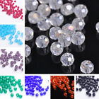 (32 Facets) 200pcs 3mm Faceted Round Glass Crystal Loose Spacer Beads DIY New