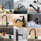 Oil Rubbed Bronze Bathroom Waterfall Faucet Sink Vessel Basin Kitchen Mixer Tap