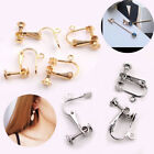 Plated Brass Metal Clip On Screw Back Earring Findings 10Pcs Wholesale New image