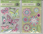 U CHOOSE Assorted K&Company SPARKLY SWEET FLOWERS & BUTTERFLIES  3D Stickers