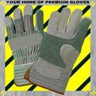 S-M-L-XL-Leather REINFORCED PALM FINGER Shop Starched CUFF WORK Garden Gloves