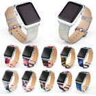 For Apple Watch 38/42mm!Shiny Geunine Leather Replace Wrist Band w/Metal Clasp